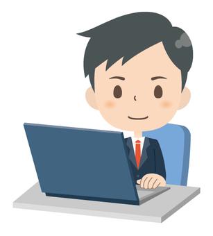 Businessman * Personal computer service 01