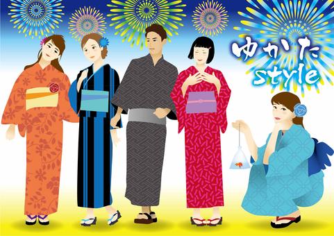 Yukata style