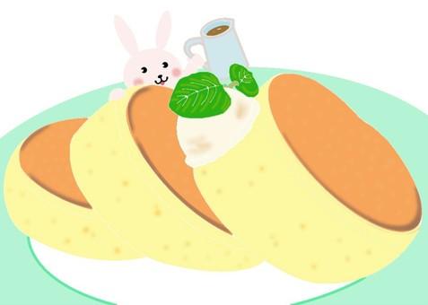 mini usa and pancake