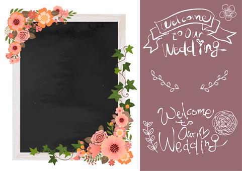 结婚板木结构黑板(白色)