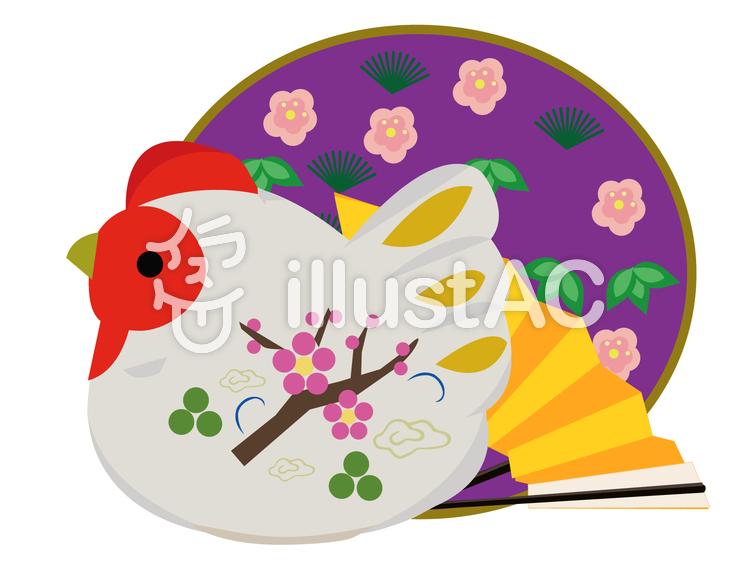 酉年 張子の飾りのイラスト
