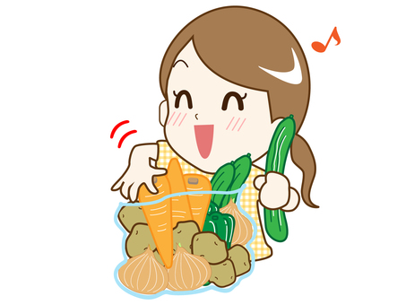 All-you-can-eat vegetables (A happy housewife)
