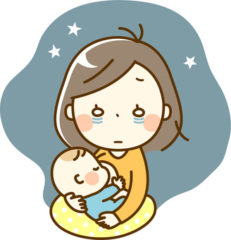Baby and Mommy _ Night Breast Feeding
