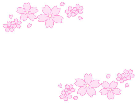 Simple cherry blossom decoration