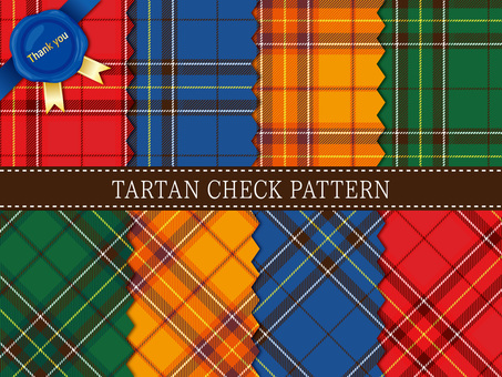 Tartan check pattern set · material collection