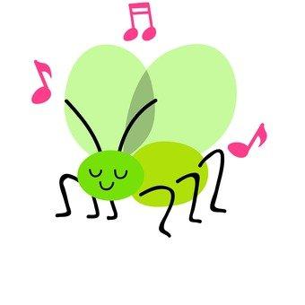 음악을 연주 방울 벌레