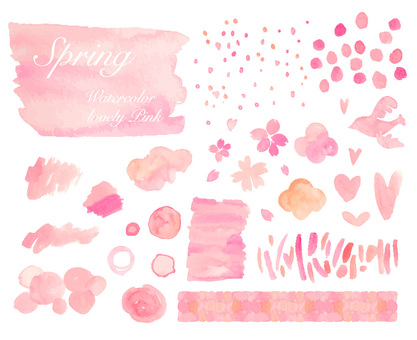 Watercolor material set
