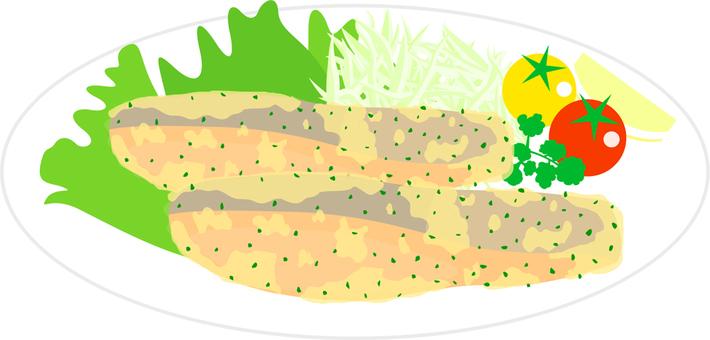 Herb bread crumbs baked salmon