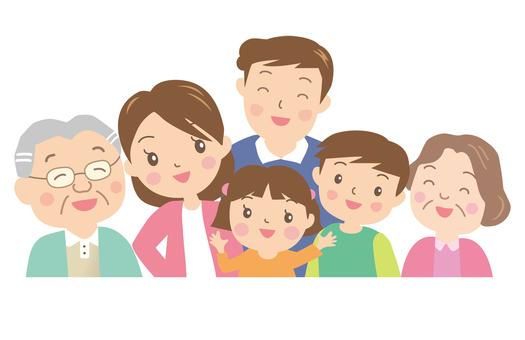 家族の笑顔集合