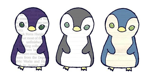Penguin three brothers