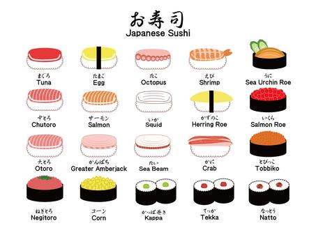 Sushi list / set