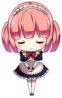 Akiba-style maid (bow)
