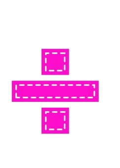 Symbol (÷) applique style