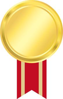Medal red ribbon pattern 2