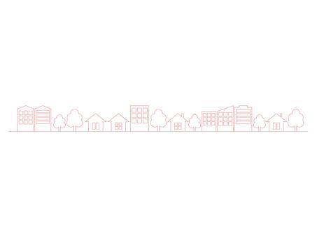 도시 거리 라인 핑크