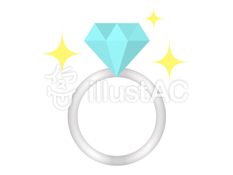ダイヤの指輪イラスト No 593854無料イラストならイラストac