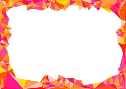Red polygon vector frame background material
