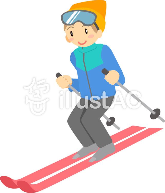 冬スキーイラスト No 302624無料イラストならイラストac