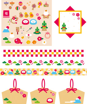Icons Line New Year