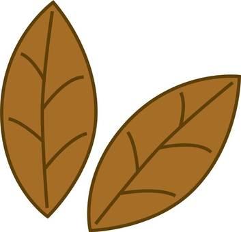 2 sheets leaves tea