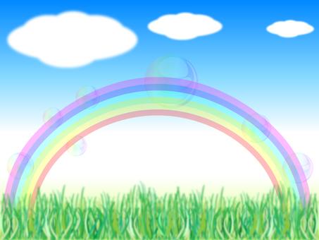 Aozora grass rainbow