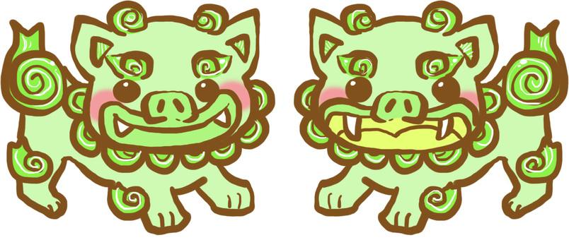Okinawa Green Shisa