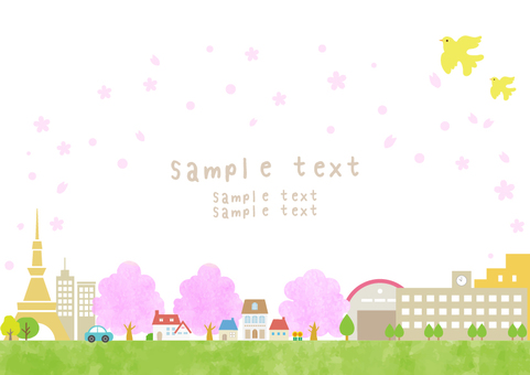 Townscape 30 cherry blossom season