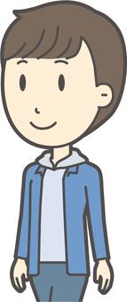 Junior high school boy's plain clothes -372-bust