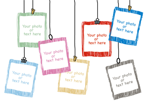 Simple photo frame with handwriting