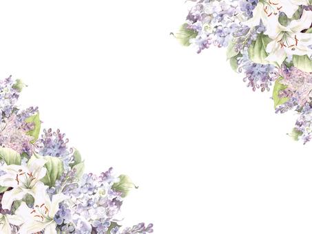 Flower frame 142 - Seasonal flower frame of lilac