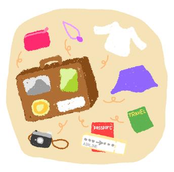 Travel packing flake seal