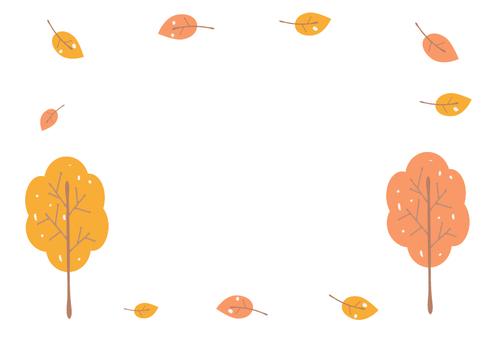 Autumn tree frame