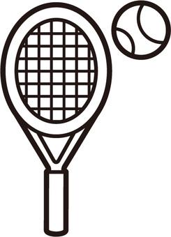 테니스 흑백