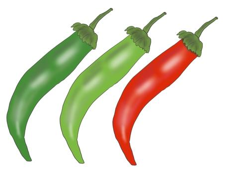 Chili pepper set