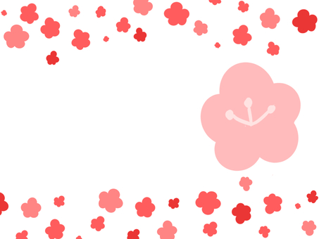 【Frame】 plum blossoms