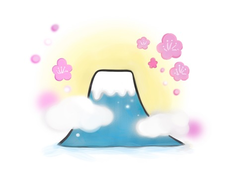 Mount Fuji cherry blossom