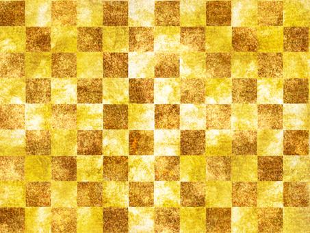 Square pattern carpet gold