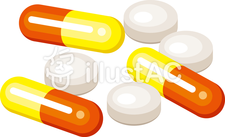 薬 カプセル 錠剤 ドラッグイラスト No 1130207無料イラストなら