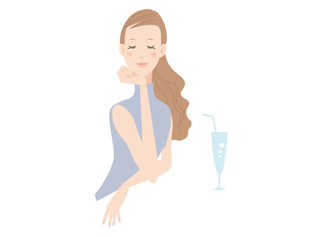 Women _ adults _ upper body _ with drinks