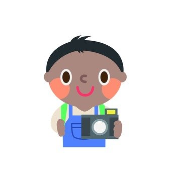 A boy taking a picture