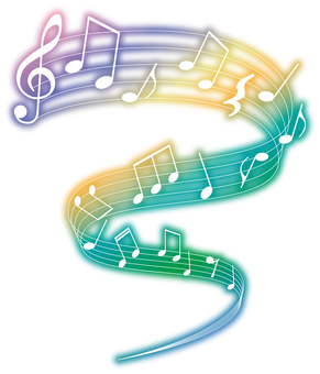 Musical note decoration