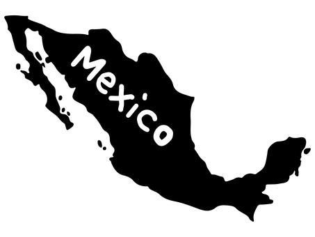 メキシコシルエット