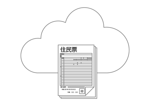 Resident card image stored in the cloud