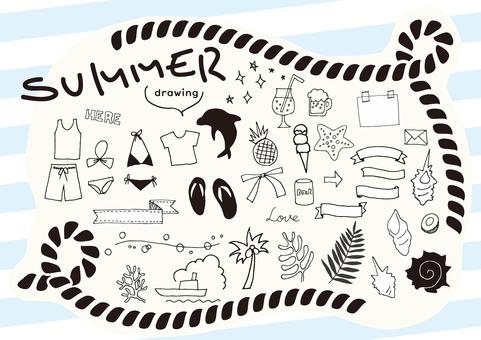 Summer motif drawing