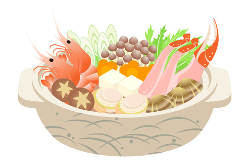 Seafood pot winter taste