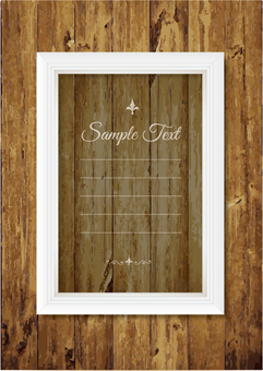 Woodgrain Background and White Frame _B