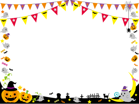 Halloween frame ghost 3