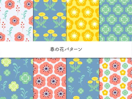 봄의 꽃 패턴