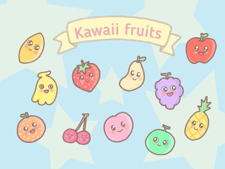 Illustration of cute fruits