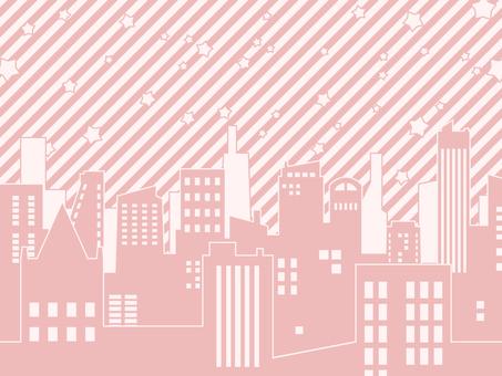 背景-ビルディング・ピンク